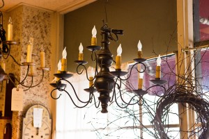 Chandeliers in all sizes, finishes and styles will add a shining touch to your country home.