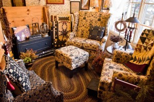 Wingback chairs, recliners, and camelback sofas are available in custom upholstery of your choice by Country Manor.