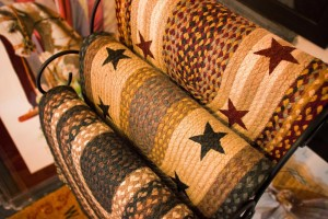 We feature a variety of braided rug, including star-studded ones like these.