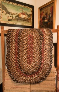 Our collection of Joseph's Coat rugs are located upstairs, where you'll also find many framed prints.